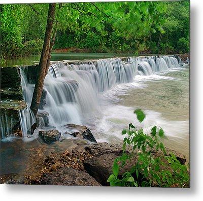 Natural Falls, Lee Creek, Arkansas, Usa Metal Print