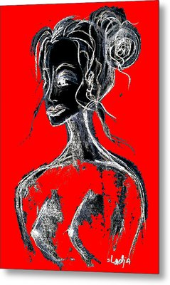 Natural Red Metal Print