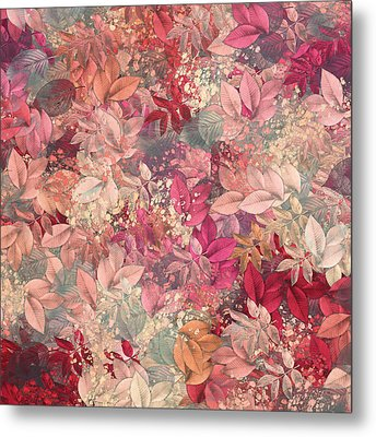 Naturaleaves - S65b Metal Print by Variance Collections