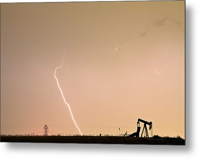 Nature - Power And Oil Metal Print