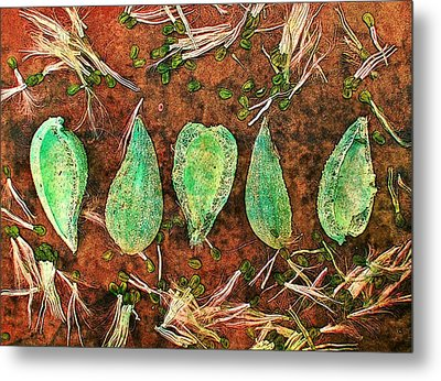 Metal Print featuring the digital art Nature Abstract 16 by Maria Huntley