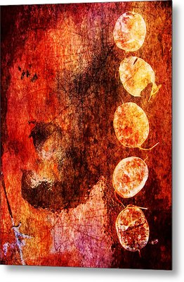 Metal Print featuring the digital art Nature Abstract 3 by Maria Huntley