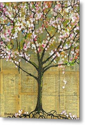 Nature Art Landscape - Lexicon Tree Metal Print by Blenda Studio