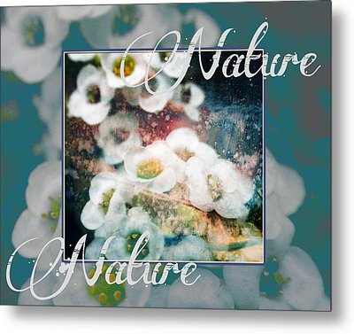 Metal Print featuring the painting Nature Floral Bouquet by John Fish