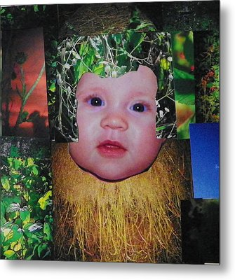 Nature Girl I Metal Print by Shirley Moravec