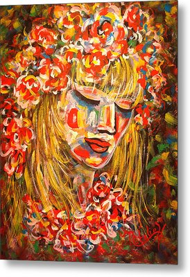 Nature Girl Metal Print by Natalie Holland