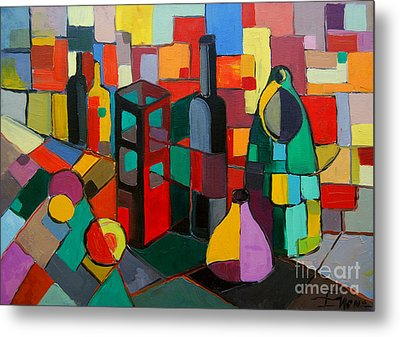 Nature Morte Cubiste Metal Print by Mona Edulesco