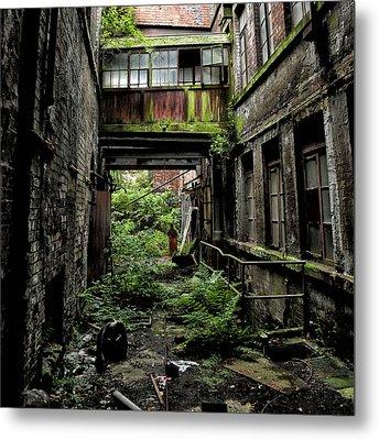 Nature Reclaims Derelict Building Metal Print by Russ Dixon