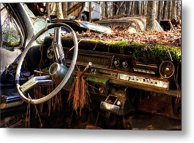 Nature Takes Over A Cadillac Metal Print by Greg Mimbs