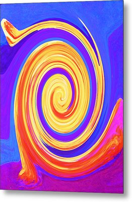 Nature Twirling Metal Print by Margaret Saheed