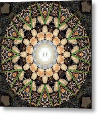 Nature Vortex Mandala #1 Metal Print by Beth Sawickie