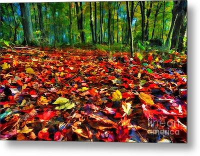Natures Carpet In The Fall Metal Print by Dan Friend