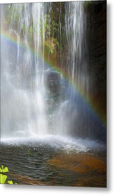 Metal Print featuring the photograph Natures Rainbow Falls by Jerry Cowart
