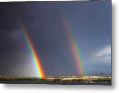 Natures Twin Towers Metal Print by Darren  White
