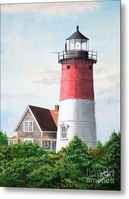 Nauset Beach Memories Watercolor Painting Metal Print