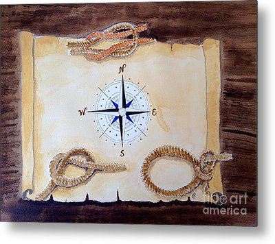 Metal Print featuring the painting Nautical by Eva Ason