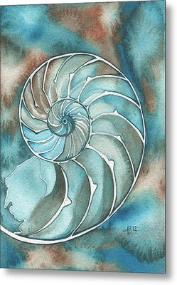 Nautilus Metal Print by Tamara Phillips