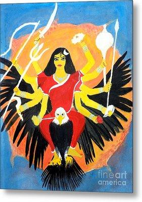 Nava Durga Chandraghanta Metal Print by Pratyasha Nithin