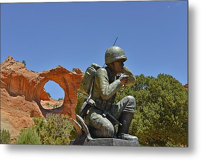Navajo Code Talker - Window Rock Az Metal Print by Christine Till