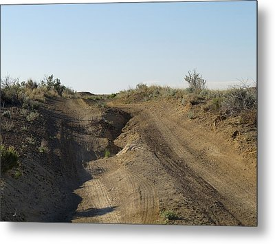 Navajo Two Track Metal Print by Feva  Fotos