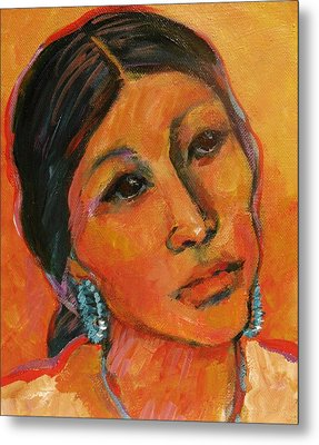 Navajo Woman Metal Print