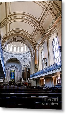 Naval Academy Chapel Interior Metal Print by Olivier Le Queinec