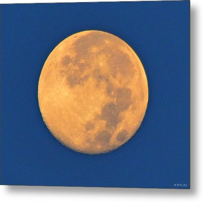 Metal Print featuring the photograph Navarre Beach Full Moon At Sunrise by Jeff at JSJ Photography
