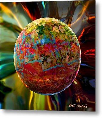 Na'vi Sphere Metal Print by Robin Moline