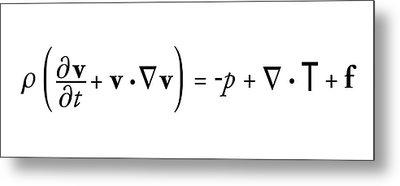 Navier-stokes Equation Metal Print