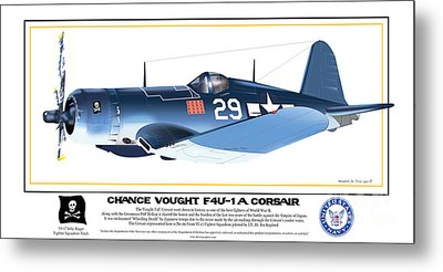 Navy Corsair 29 Metal Print by Kenneth De Tore