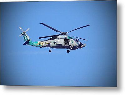 Navy Jaguar Helicopter Metal Print