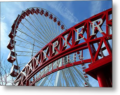 Navy Pier Ferris Wheel Metal Print by James Hammen