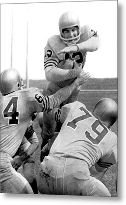 Navy Quarterback Staubach Metal Print by Underwood Archives