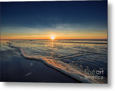 Navy Sunset Metal Print by Lucid Mood