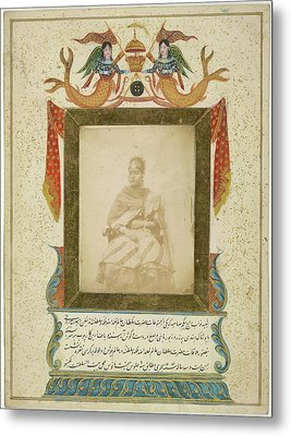 Nawaub Raj Begum Sahibah Of Oudh Metal Print by British Library