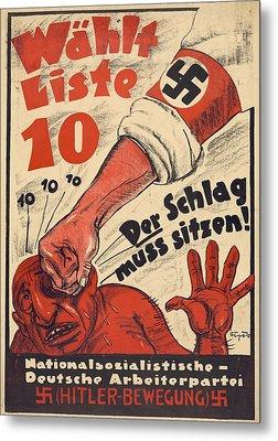 Nazi Party Anti-semitic Poster Metal Print by Everett