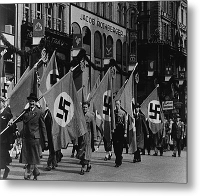 Nazis Parade In Vienna, Austria, On May Metal Print