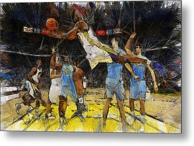NBA Metal Print by Georgi Dimitrov