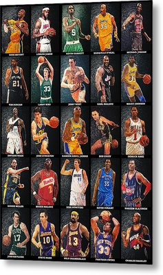 Nba Legends Metal Print by Taylan Apukovska