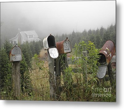 Metal Print featuring the photograph Nc Mailboxes by Valerie Reeves