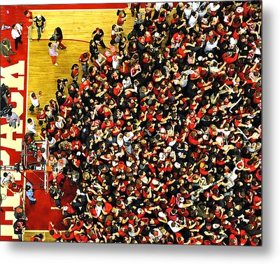 Nc State Fans Celebrate At Pnc Arena Metal Print by Replay Photos