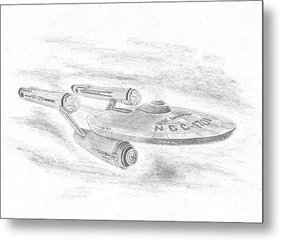 Ncc-1701 Enterprise Metal Print by Michael Penny