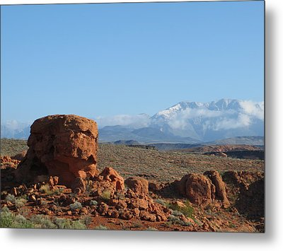 Near And Far Metal Print by Jean Marie Maggi