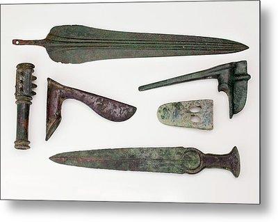 Near East Bronze Age Weapons Metal Print
