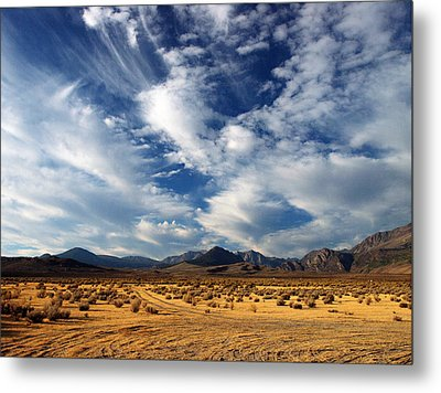 Near The Intersection Of God And The Eastern Sierras Metal Print