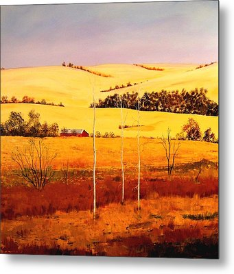 Metal Print featuring the painting Nebraska Plains by William Renzulli