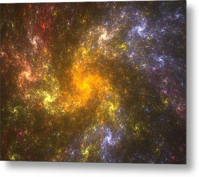 Metal Print featuring the digital art Nebula by Svetlana Nikolova
