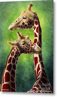 Neck And Neck... Metal Print by Will Bullas