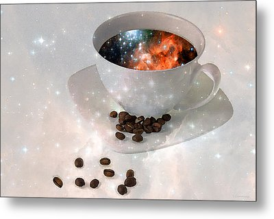 Nectar From Heaven - Coffee Art By Sharon Cummings Metal Print