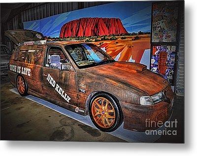 Ned Kelly's Car At Ayers Rock Metal Print by Kaye Menner